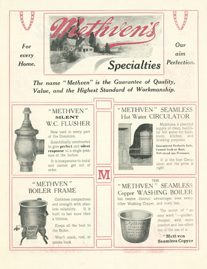 Methven Ltd :Methven's specialties for every home. [ca 1910]