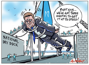 National Party works to make Bill English shipshape