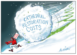Cathedral restoration costs snowball