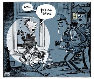 "Burgler tells police ""I am Metiria"""