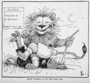 Lloyd, Trevor, 1863-1937 :Britain victorious in the first rugby test. The New Zealand Herald, 23 June 1930.