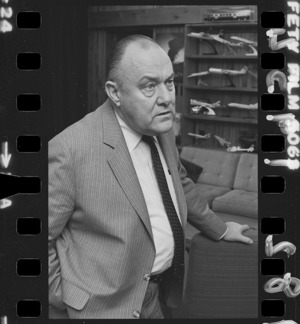 Prime Minister Robert Muldoon - Photograph taken by Phil Reid