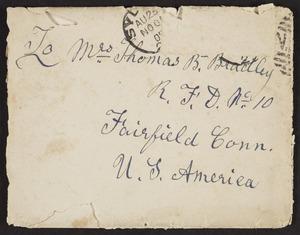 Hale, David Buckley, 1838?-1923: Letter to Martha Bradley