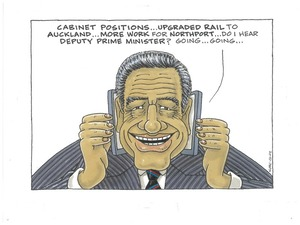 Winston Peters - Coalition negotiations