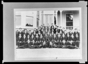 Group portrait of King's College students in uniform [Sea Scouts? Cadets?],