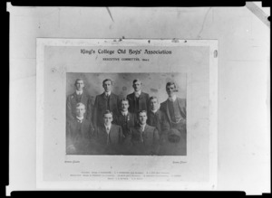 Group portrait of King's College Old Boys' Association Executive Committee 1904-1906