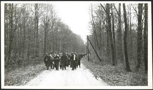 World War, 1939-1945. Allied prisoners-of-war on forced march in Germany
