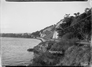 View of Shakespeare's Cliff on the Whanganui River, near Wanganui