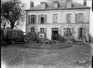 New Zealand dressing station on the Somme, Mailly-Mallet, France