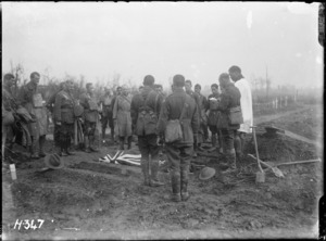 Funeral of Lieutenant Colonel George Augustus King during World War I, Ypres
