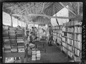 Library for World War II soldiers, probably Pacific area