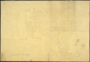 [Creator unknown] :[Sketch plan of town sections of Raglan] [ms map]. [ca.1860]
