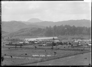 Looking over part of Manunui, with the school in the centre