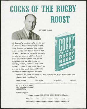 Order form - Cocks of the rugby roost