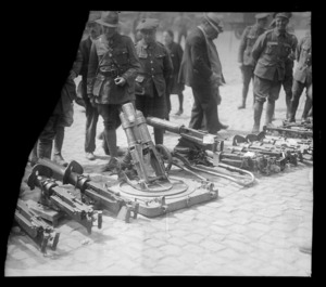 Guns captured by the New Zealanders at Messines