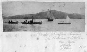 Boats, including the yacht Xarifa