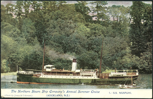 Northern Steam Ship Company: The Northern Steam Ship Company's annual summer cruise. 1.- SS Ngapuhi. Photo by Jones & Coleman (Auckland, N.Z. [Postcard].