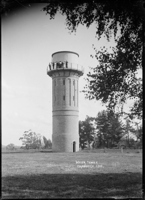Water tower at Cambridge, circa 1910s