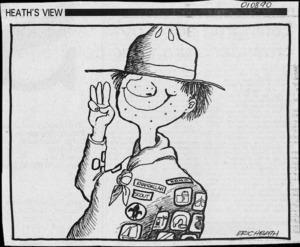 Heath, Eric Walmsley, 1923- :Khandallah scout. Dominion, 1 August 1990.