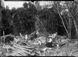 Ruins at Te Wairoa, near Rotorua