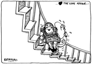 Bromhead, Peter, 1933- :The love affair... Auckland Star, 13 August 1981.