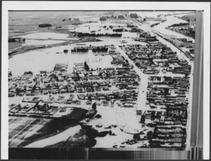 Mataura flooded by the waters of the Mataura River