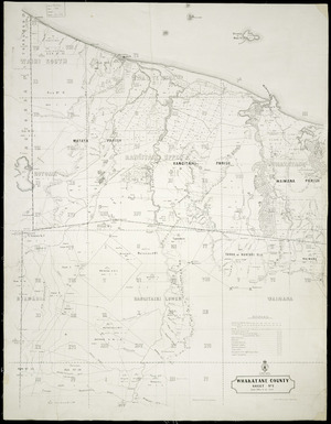Index map of Whakatane County [cartographic material].