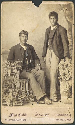 Cobb, Mrs fl 1890-1900 :Portrait of 2 unidentified men