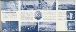 New Zealand Government Tourist Bureau :How to plan a tour of New Zealand. [1940s].