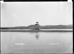 Te Teko Island, Raglan Harbour, 1910 - Photograph taken by Gilmour Brothers