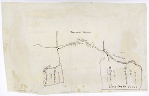 [Creator unknown] :[Map of the North Island main trunk railway between Taumarunui Station and Ongarue Station and including adjacent land blocks]. [ms map].