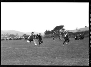 Girls' walking race, Marsden School, Wellington