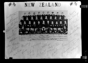 All Black team photograph with signatures