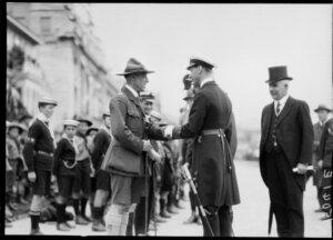 Duke of York inspecting Naval Cadets, Wellington, 1927