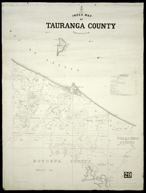 Index map of Tauranga County [cartographic material] / Gerhard Mueller, Chief Surveyor.