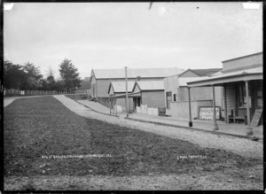 Bow Street, Raglan, southside looking east, 1910 - Photograph taken by Gilmour Brothers