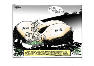 Motorists complain about petrol price rises as 'Big Oil' pigs have their noses in the trough