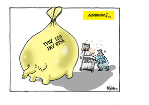 Viewers push a rubbish bin of 'programme quality' as the 'TVNZ CEP payrise' piggy bank grows to elepantine size