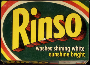 Reckitt and Colman New Zealand :[Rinso packet. 1950s?].