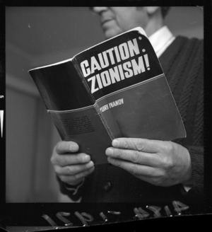 Yuri Ivanov's book 'Caution - Zionism!' that prompted a protest by Wellington Jews