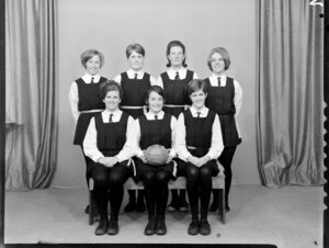 Wellington East [Girl's College?] basketball team