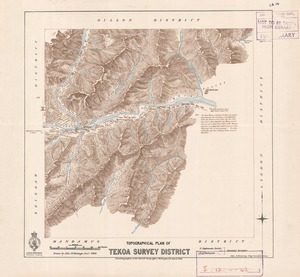 Topographical plan of Tekoa Survey District / F. Stephenson Smith, F.A. Thompson assistant surveyors ; drawn by John M. Malings.