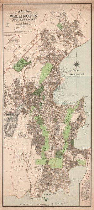 Map of Wellington and environs.