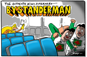 The Authentic Kiwi Superhero - Bystanderman