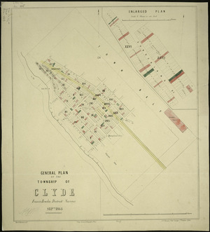 General plan of the township of Clyde [cartographic material] / Francis Howden, district surveyor, Septr. 1864.