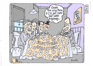 Brockie, Bob, 1932-:Key in bed coalition. 14 February 2014