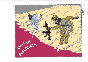 Brockie, Bob, 1932-:Syrian blood bath. 13 August 2013