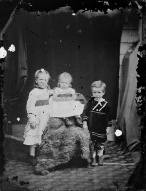 Three unidentified children