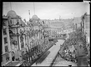 Queen Street, Auckland, during arrival of the Prince of Wales