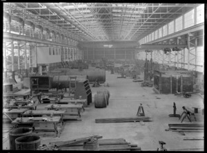 View of one of the Hutt Railway Workshops at Woburn, circa 1929